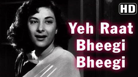 Yeh Raat Bheegi Bheegi Lyrics - Chori Chori(1956)